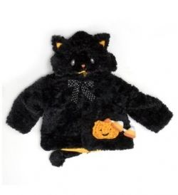Gund Halloween Black Cat Infant Coat