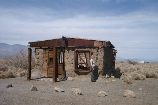 Old ghost town building