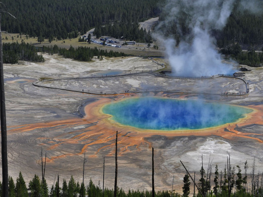 Grand Prismatic Spring, Yellowstone National Park, Wyoming, U.S.