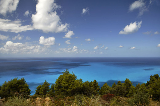 Above Egremni Beach, Lefkada, Greece