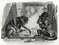 The Monkey and the Cat by Grandville