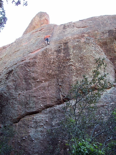 Rock Climber at Pinnacles