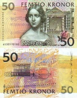 Image of Jenny Lind on baknote