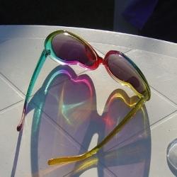 My retro  heart shaped sunglasses