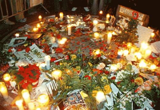 Candelight Vigil for John Lennon by His Fans