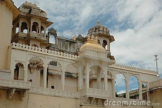 Beautiful View of the City Palace, Udaipur