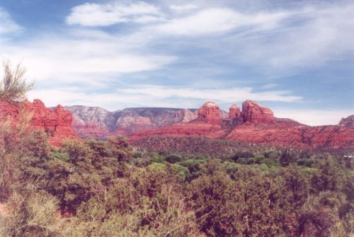 View from a side road south of Sedona.