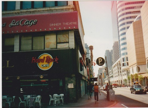 The Hard Rock Cafe   I miss the staff there. They actually remembered me or so thopse that were still working when I came back each trip