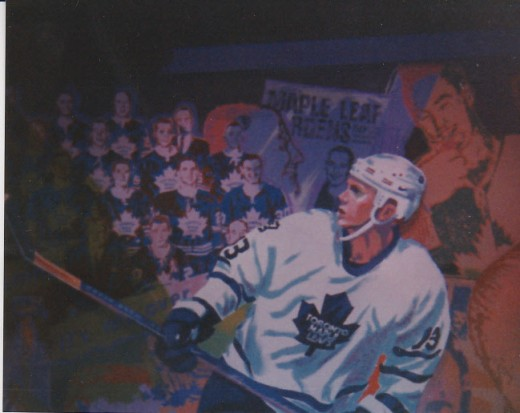 Mats Sundin part of Mural