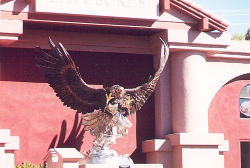 Another sculptor, evidently also a local resident, does eagles. There are a few of these scattered around, too.