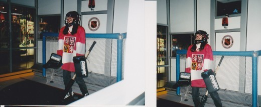Hasek eat your heart out!  (& that Mask kept falling  over my eyes! lol)