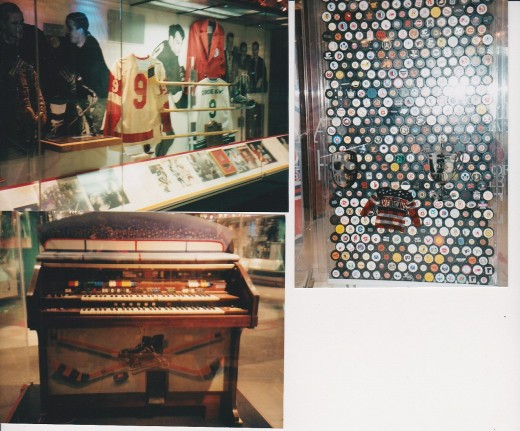 Gordie How, Pucks & Organ (from Chicago  I think) Displays
