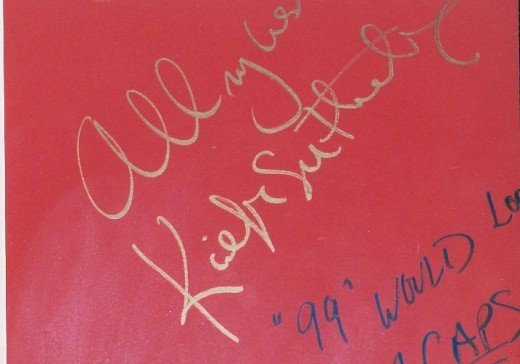 Keifer Sutherland authograph