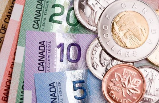 Colorful Canadian money