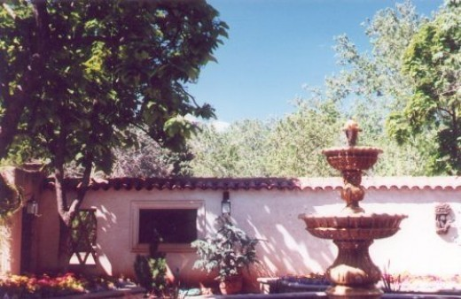 Another view of the patio fountain.