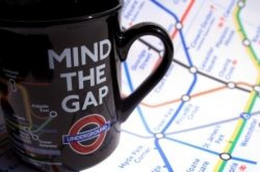 London Underground Map & Mug of tea
