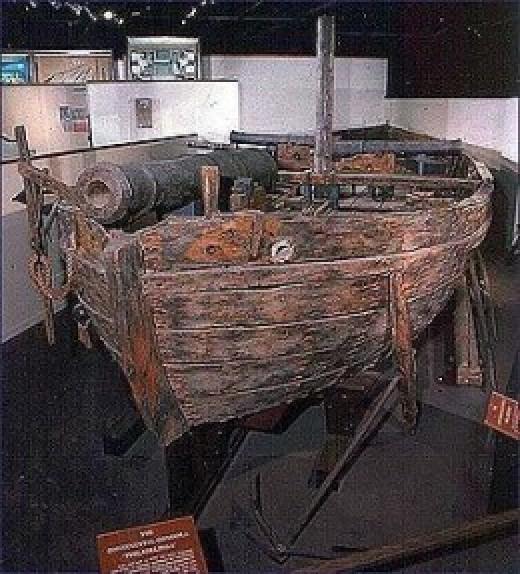 Gunboat Philadelphia in Smithsonian Museum