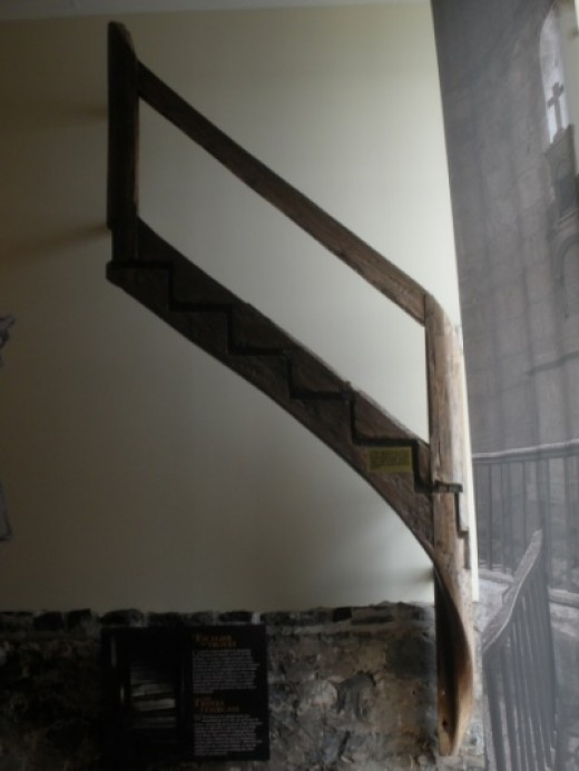 Part of the Original Staircase From the Saint's Childhood Home in France