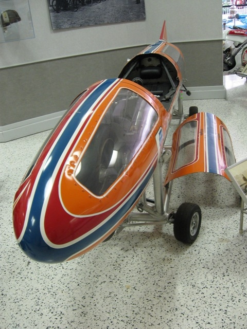 This is a Harley Davidson land speed record holder. It's a bike, the wheels you see are just part of a cart/stand.