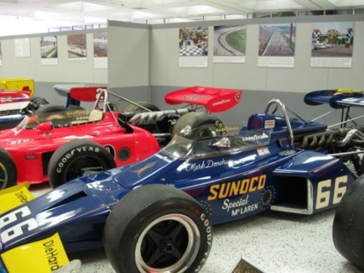 This is a McLaren-Offy which was driven by Mark Donohue in 1972 for the win.