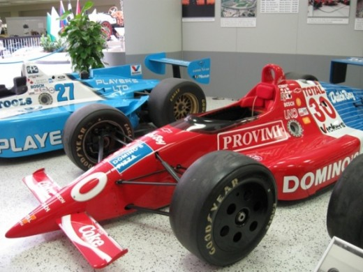 This is Arie Luyendyk's winning car, a Lola Chevy, from 1990.