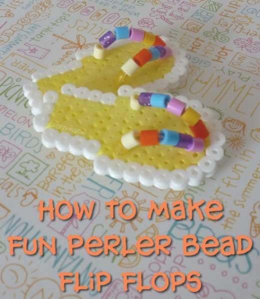 How to Make Fun Perler Hama Fused Bead Flip Flops for a Great Summer Craft