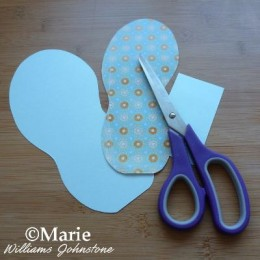 Cutting out flip flop designs.