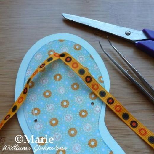 Adding the ribbon.