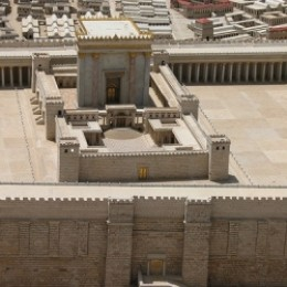 A holy temple model rebuilding example in Jerusalem.