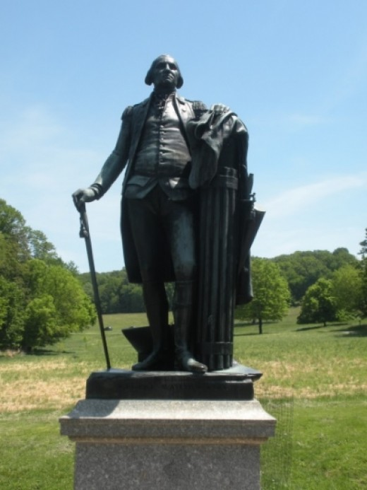 George Washington Statue Near His Valley Forge Headquarters