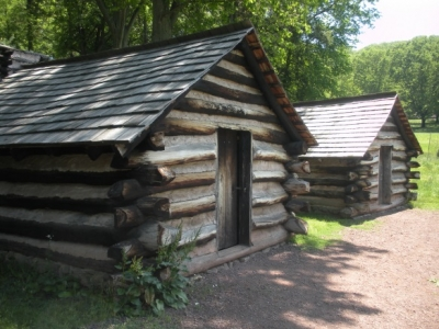 Reconstructed Guard Huts Behind Washington's Headquarters