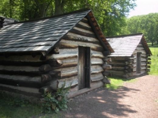 Reconstructed Guard Huts Behind Washington's Headquarters