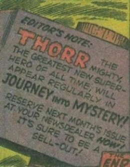 Thorr Panel Journey into Mystery No. 83