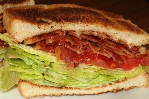 Bacon, Lettuce, Tomato Sandwich by unprose