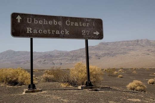 Ubehebe Crater and Racetrack Playa Road