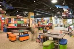Studio, Discovery Gateway: The studio is for future artists, engineers and scientists. Kids get a chance to draw and play with science experiments.