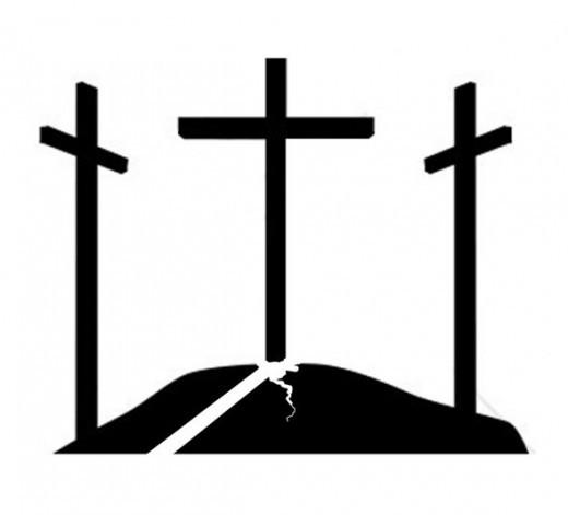Three Crosses Pumpkin Pattern on Hill
