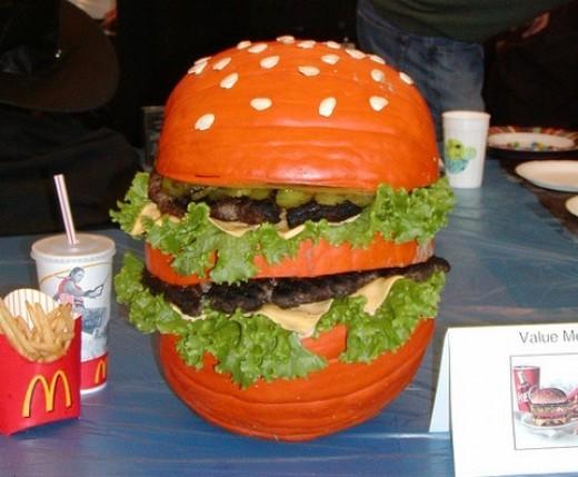 Hamburger Pumpkin Seeds Fries Coke.
