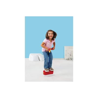 Girl Playing On Foam Pogo Stick