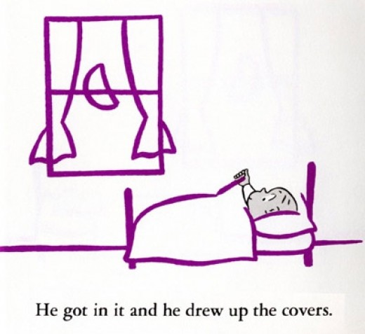 "Harold ""drew up the covers."""