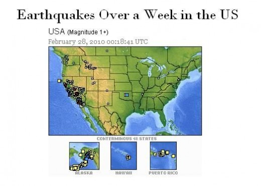 Earthquakes in the US