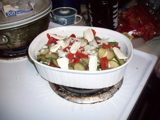 Another Layer in the Zucchini Casserole