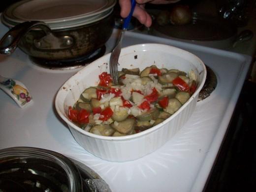 Testing Zucchini Tenderness