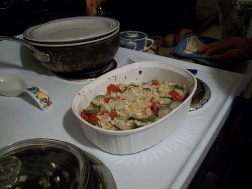 Zucchini Casserole Hot and Ready