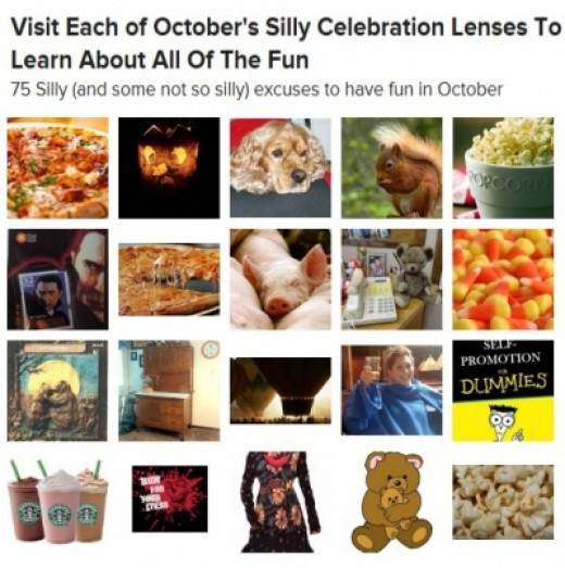 Featured on October 2012 Silly Celebrations Monsterboard