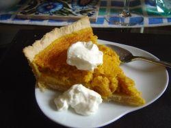 Serve pumpkin pie with cream