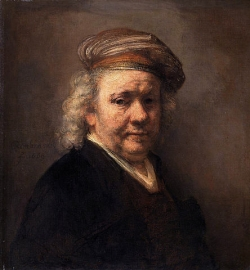 Image: Self Portrait 1669 by Rembrandt (1606-1669)