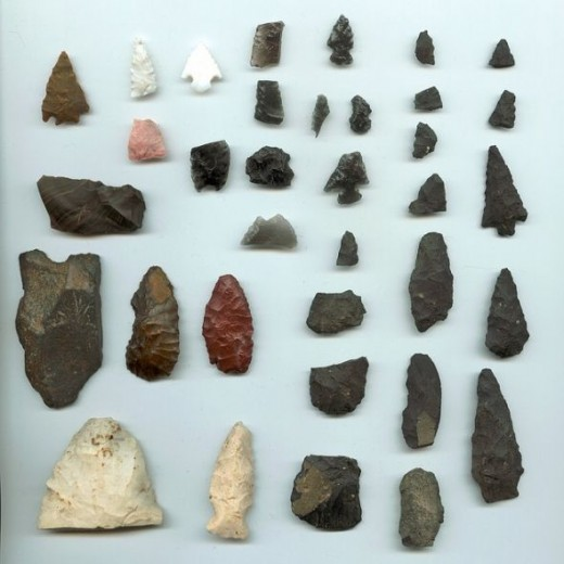 Historic Amerindian Arrowheads from Ragesoss