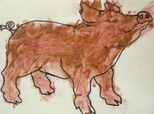 Shaving Cream Puffy Paint - A Muddy Pig