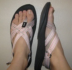 My Pink and White Kalso Earth Sandals